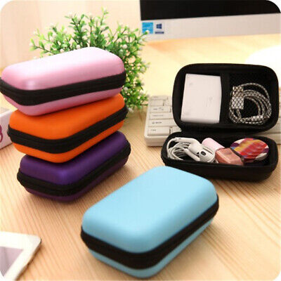 Portable Mini Wallet Travel Cable Earphone Phone Charger Storage Case Pouch N