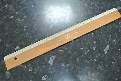 "Vintage Faber Castell Wooden 15""  Ruler in Inches"