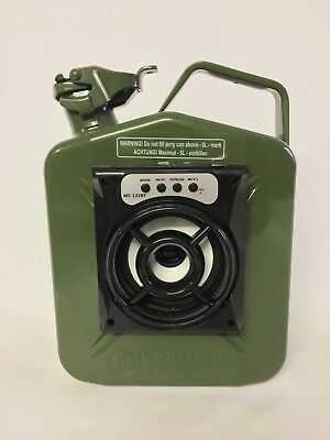 Jerry Can Bluetooth Speaker With Inbuilt Battery Mancave Garage Green