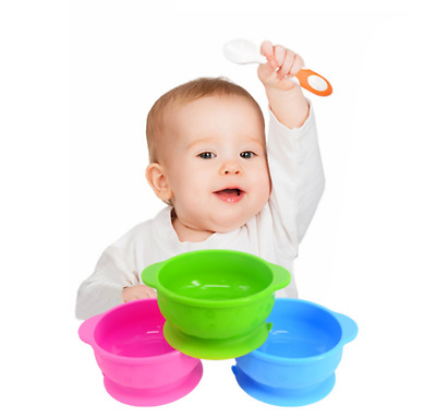 Children Baby Feeding Suction Table Food Tray Placemat Plate Bowl Dish Mat AU