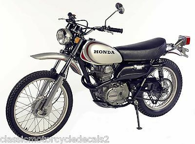 Honda Xl250 Xl350 Motosport Restoration Decal Set