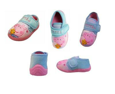 Girls Official Peppa Pig Character Slippers