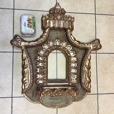 Antique, Carved & Gilded, Mirror Inlaid, lndian Frame.