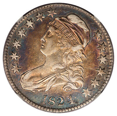1824/4 Capped Bust, Lettered Edge O-110 50C NGC XF40 (CAC)