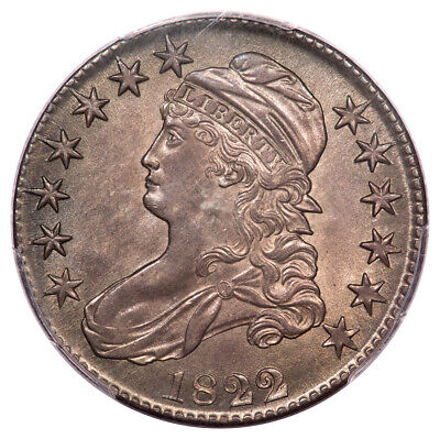 1822/1 50C Overton 101 Capped Bust Half Dollar PCGS MS63