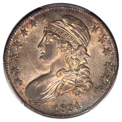 1834 50C Small Date, Small Letters Overton 116 Capped Bust Half Dollar PCGS MS64