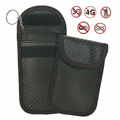 2PC Car Key Signal Blocker Case Faraday Cage Fob Pouch Keyless RFID Blocking Bag