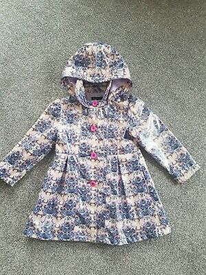 Autograph @ Marks & Spencer ~ Lilac / Purple Floral Coat / Jacket ~ Age 3/4 Yrs