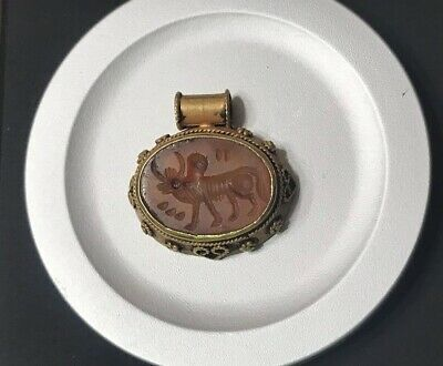 Ancient Roman Solid Gold Carnegellie Pendant 5.8g