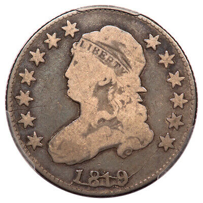 1819 25C Small 9 B-4  Small 9 Capped Bust Quarter PCGS VG8 (CAC)