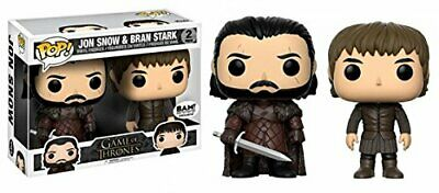 Funko Game of Thrones Pop! Vinyl - Jon Snow and Bran Stark 2 Pack Set (BAM