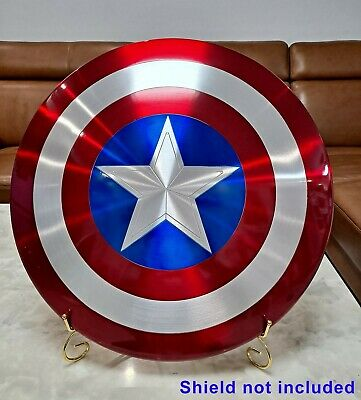 Metal Display Stand for 1:1 Marvel Legends Avengers Captain America Shield