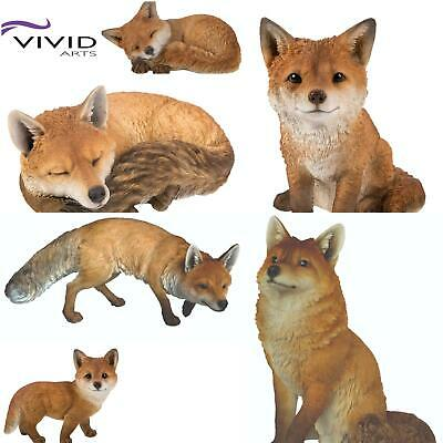 Vivid Arts Real Life Sculptures Ornaments Indoor Outdoor Decorative Fox Cub