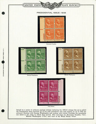 US Stamps # 803-32 VF OG NH Plate Blocks of 4 Half Cent to $1 Proxies