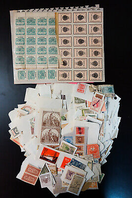 Worldwide 1800s to Early 1900s Revenue Stamp Collection Around 1,000 Issues