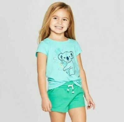 NWT Cat /& Jack Toddler 3//4 Sleeve /'Elf Squad/' T-Shirt Green 2T