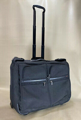 Used Tumi 22030D4 Black Ballistic Nylon Wheeled Rolling Garment Bag Luggage #667