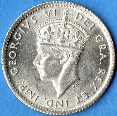 Canada Newfoundland 1941 c 5 Cents Five Cent Small Silver Coin - Uncirculated