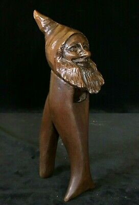 EXCEPTIONAL RARE BEARDED MAN Antique Wooden Nutcracker Black Forest Late 19thC