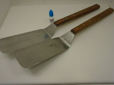 Dexter Russell Bulk Lot (2) Extra Long Wood Handles Pro Duty USA Factory Seconds