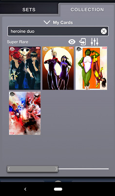 Topps MARVEL COLLECT! Complete ORIGINAL ART Heroines DUOS - Complete with AWARD
