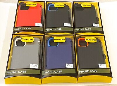 For iPhone 11 Pro Max Rugged Case + Screen w(Belt Clip Fit Otterbox Defender)
