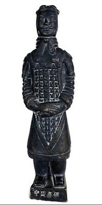 Vintage Chinese Terracotta Army Soldier Warrior Clay Statue SM Figurine H6""