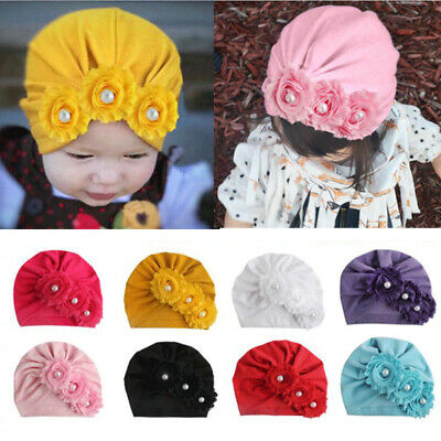Indian Hat Cotton Bandanas Baby Girls Turban Headbands For Baby Kids Headwrap