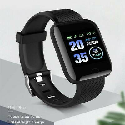 116plus Smart Watch Bluetooth Heart Rate Blood Pressure Monitor Fitness Tracker-