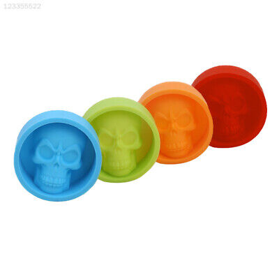 Funny Skull Shaped Muffin Silicone Cake Chocolate Ice Tray Mold Moulds Tools^