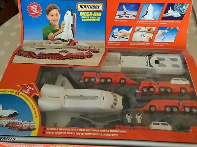 Matchbox Space Shuttle mega rig set ungeöffnet 90er Jahre USA rar