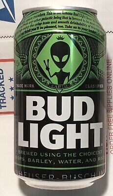 Bud Light Area 51 Green Alien Can BRAND NEW Very Limited Collectors Item FULL