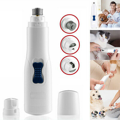 Professional Pet Nail Trimmer Tool Dog Cat Grooming Grinder Electric Clipper Kit