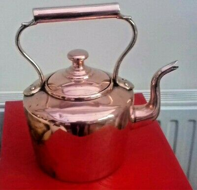 Copper on Pewter Kettle Antique Victorian  - Used and  Family owned since 1890s