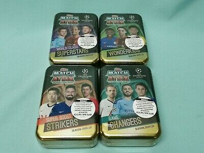 Topps Match Attax Champions League 2019/2020 alle 4 Mega Tin Boxen 19/20