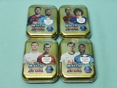 Topps Match Attax Champions League 2019/2020 alle 4 Mini Tin Boxen Limited 19/20