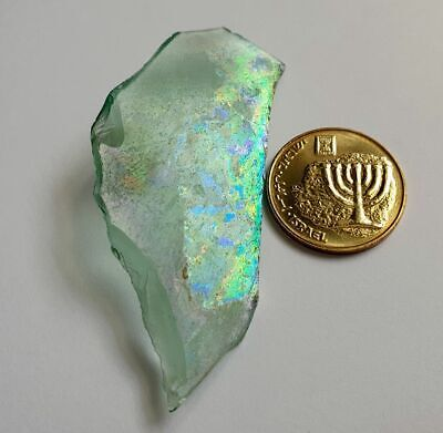 ⚱️ Genuine Ancient Roman Iridescent Glass Fragment • Pendant From Israel #11 ⚱️