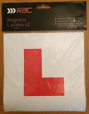 Rac Magnetic L Plates (Pack Of 2) For Learner Drivers