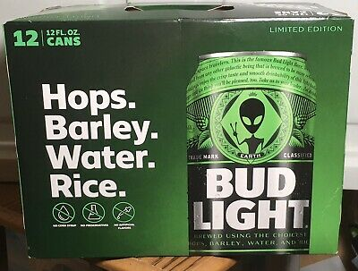 Bud Light Alien Fest Area 51 12 Pack Empty Box Limited Edition