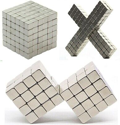 N35 Neodymium Magnets CUBES Blocks ~ 4mm, 6mm, 8mm, 10mm ~ Stress Relieve Puzzle