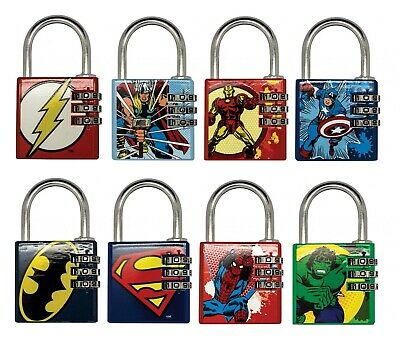 Marvel DC Comics Official Padlock Combination Brass Licensed Super Heroes Gift