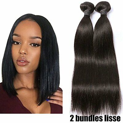 2 Tissage Bresilien En Lot Cheveux Naturel Lisse 100% Virgin Hair 14pouces 50...