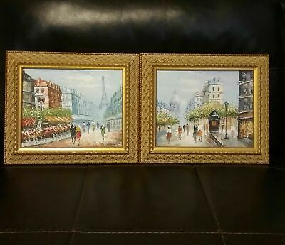 Paris Street Scene Oil Paintings Study After Andre Boyer? Signed Boyer?