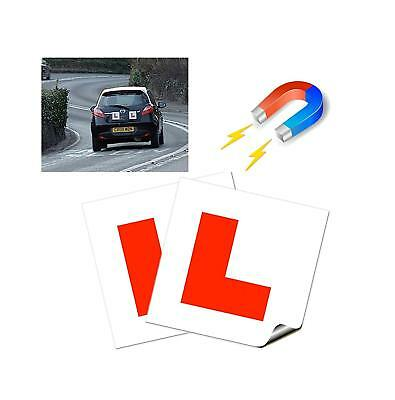 2 L Plate Magnetic Exterio Car Learner Secure Safe Driving Vehicle Sticker