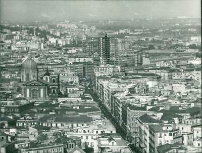Photograph of Aerial view of Naples city center