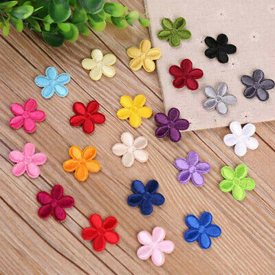 10PCS Embroidery Flower Patches DIY Sewing Iron-On Applique Fabric Badge Decor