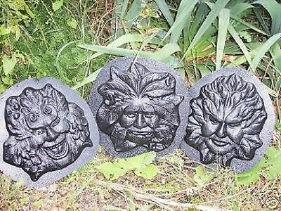 #MD1397 Green Man Face Surrounded with Leaves Polymer Clay Mold