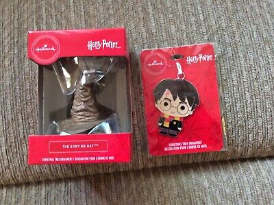 2019 Hallmark Harry Potter and The Sorting Hat Red Box Ornament NIB