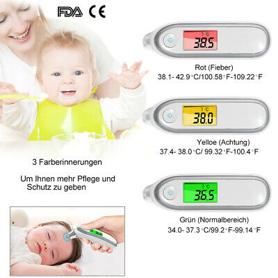 Baby Digitale LCD Infrarot Fieberthermometer Stirnthermometer Ohr Thermometer DE