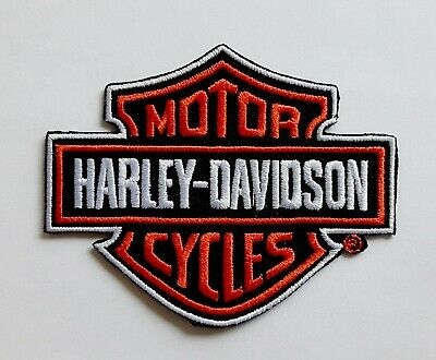 Harley Davidson Patch Embroidered Patch Biker Classic Harely Logo Sew or Iron